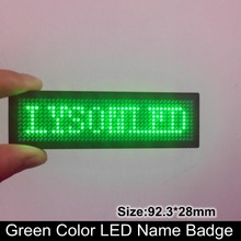 44x11 Dots Single Green Huidu Rechargeable Led Name Badge Sign, Smd Programmable Scrolling Led Name Tag(China)