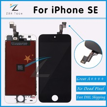 10PCS/LOT Quality AAA W/B for iPhone SE/5S LCD Digitizer Assembly with OEM Glass Replacement Great Packaging Free DHL Shipping(China)