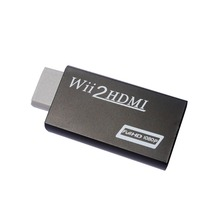 Black For WII TO HDMI Converter 720P 1080P HD Output Upscaling Adapter