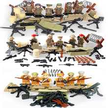 Set Sale World War 2 Heavy Fire mini dolls Military Swat Soldiers lepin Army Building Blocks Models & Building Toys