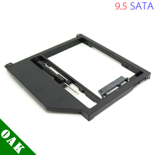 "[Free DHL] New Plastic 9.5mm SATA to SATA Second HDD Caddy for Apple Macbook Pro Unibody 13"" /15""/17""  Black Color - 100pcs"