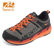 MERRTO Men's Professional Super Light Running Shoes Male Breathable Genuine Leather Sport Shoes Marathon Sneakers Jogging Shoes