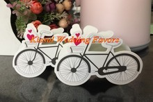 (50 Pieces/Lot) Wedding souvenirs Favor box of Vintage Bicycle Wedding Candy Box For Garden themed Party Decoration Gift box(China)