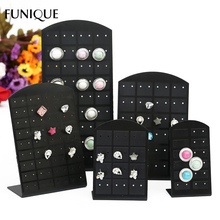FUNIQUE Women Fashion Earrings Necklaces Jewelry Case & Displays Black White Plastic Jewelry Carrying Case 2017 New Multi-Choice