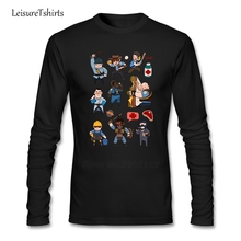 Team Fortress 2 All Class T Shirt Men Long Sleeve O Neck Team Tee Male New Arrival Big Clothes Leisure Loose Teenage Tee Shirt(China)