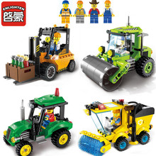 ENLIGHTEN City Trucks Juguetes Compatible Building Blocks Toys for Children Kids Boys Gifts with one figure ABS plastic EN71(China)