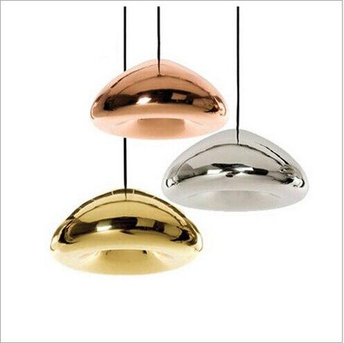 newest fashion 15/18/30cm novel plated glass bowl shape led E14/E27 pendant lamp dining room living room light 1393<br><br>Aliexpress
