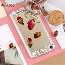 KISSCASE For Xiaomi 5 mi5 Case Glitter Rhinestone Mirror Phone Cover Case For Xiaomi mi5 Xiaomi 5 Bling Women Accessories Fundas