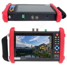 "Free shipping!IPC9800 7"" Touch Screen CCTV Analogy Video HD1080P IP Camera Wifi Tester POE UTP"