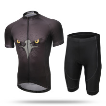 XINTOWN Black Hawk Complete Summer Cycling Suit for Men Short Sleeve Bicycle Clothing 3D Gel Padded Sports Shorts Ropa Ciclismo
