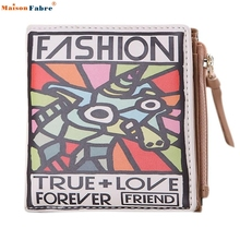 Naivety 2016 New Women Vintage Animal Printing Purse Cool PU Leather Short Wallet Clutch Handbag Monedero 11S60927 drop shipping