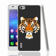 01330 tiger head cell phone Cover Case for huawei honor 3C 4A 4X 4C 5X 6 7 8 mate V8 Y6