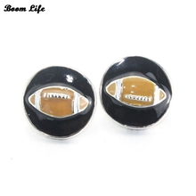 6PCS/Lot 18mm drops of oil rugby metal snap buttons for men and women watch jewelry 061017(China)