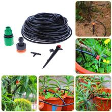 25M Mist and Drip Irrigation Sprinkler Adjustable Water Drip Irrigation Kit Garden Watering System Irrigation Tools Accessories