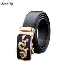 Buy Lucidity Men Leather Belts PU Leather Casual Business Belts Man Fashion Automatic Buckle Black Belts Male for $4.99 in AliExpress store