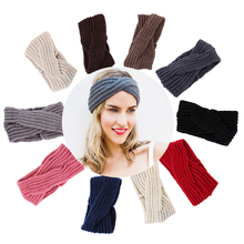10pc Girl Cross twist warm wool hair band For women Hair accessories Fashion Handmade Crochet Knitted headband Winter Headwrap(China)