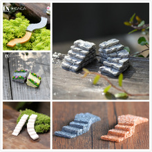 11 Styles Resin Stone Ladder Fairy Garden Landscape Figurines Miniatures/Terrarium Dollhouse Material DIY Ornaments Accessories(China)