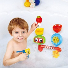 Lovely Portable Bath Tub Toy Water Sprinkler System Toy for children Funny Bathing Toys Waterproof in Tub Baby Bath toys