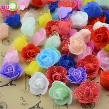 FREE SHIPPING 13Colors Wholesale 20PCS/Bag PE Foam Rose Handmade DIY Wedding Home Decoration Multi-use Artificial Flower Head