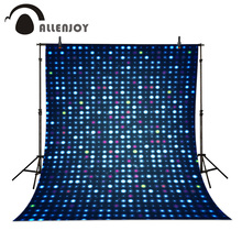 Allenjoy Photographic background Abstract photo Circle Light Blue Stars Colors Glitter Lights Bokeh digital backdrops studio