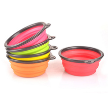 Dog Feeders Portable Outdoor Pet Bowl of collapsible silicone pet bowl Dog cat bowl high-grade Silicone Bowl FG
