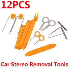 12pcs/set Car Removal tools Car dvd player Kit Interior Trim Panel Dashboard Installation Pry Stereo Refit Tool Free Shipping
