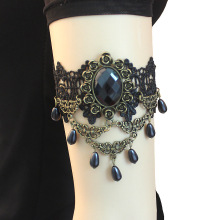 Classic arm cuff Black lace Water drop bracelets bangles lace arm accessories jewelry upper arm bracelet With Lobster Clasp