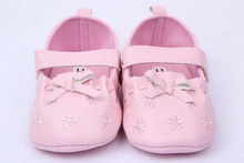 Cute brand princess leather baby girl shoes bebe first walkers pu sole newborn girls bow toddler infant kids sneakers sapatinhos