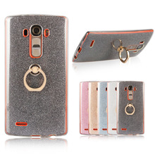 Buy LG G4 Case Soft TPU Case Bling Shining Glitter Metal Ring Phone Holder Back Cover Case LG G4 H818 for $2.51 in AliExpress store
