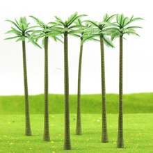 20pcs Layout Model Train Palm Trees Scale G 12.9cm Plastic model tree TDE120 railway modeling model building kits(China)