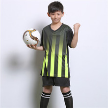 2017 Boys football jerseys clothing set kids Football Training Vest Soccer Jerseys for children customize with own LOGO number