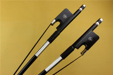New Professional Carbon fiber 3/4 Double Bass Bow ebony frog black horse hair