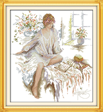 The Reading Woman Patterns Counted Cross Stitch 11CT 14CT Cross Stitch Sets Chinese Cross-stitch Kits Embroidery Needlework(China)