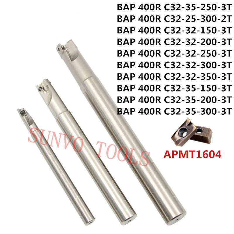 BAP 400R C25-25-150/C25-25-200/C25-30-150/C25-30-250/C25-26-150/C25-26-200/-2T Milling Cutter Tool Holder APMT1604 PDER insert<br>