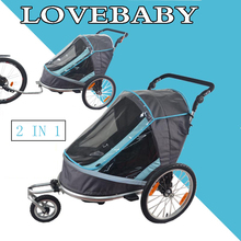 Children Double Fold Bicycle Trailer Jogging Stroller Combo 2 in 1 Child Jogger Trailer(China)