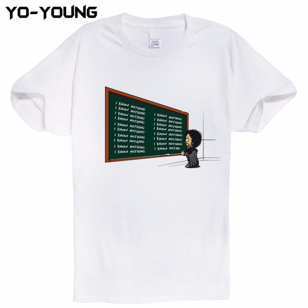 HTB1pT.qRXXXXXb3apXXq6xXFXXXv - Game Of Thrones Hodor Jon Snow Men T Shirts Funny Design T-shirts For Men Digital Printed 100% 180g Combed Cotton Customized