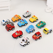 12Pcs/Lot Car Toys For Children Kids Tractor Toy Truck Autos For Boys Pull Back Car Model Kids High Quality Cheap Birthday Gift(China)