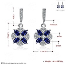 NEW earrings Europe Dark blue Crystals from Swarovski Earring With Charm for Women Gift Fine jewelry(China)