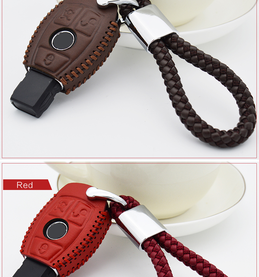 Car Key Case Cover Chain For Mercedes Benz Accessories (15)