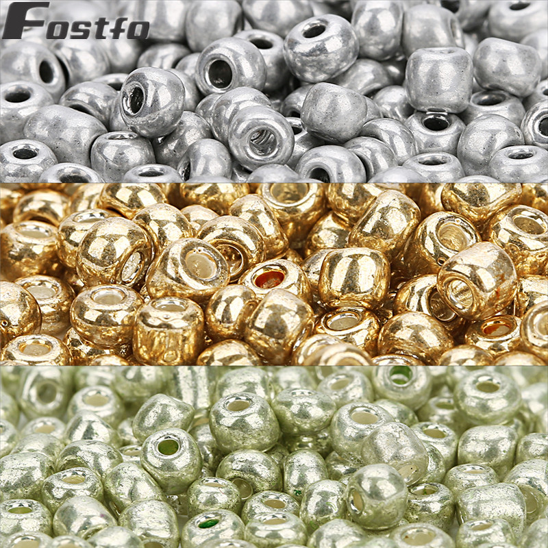 Wholesale NEW 3MM 500pcs Glass With Seed Spacer beads Jewelry Fitting Gold