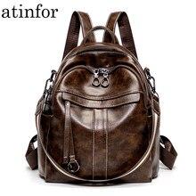 de38cbe8f0a61 Atinfor Marka Anti Hırsızlık için Vintage Kadın Küçük Sırt Çantası, Yumuşak Deri  Çanta Rahat omuzdan askili çanta Bayanlar
