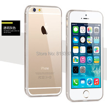 Soft Transparent Crystal Hard TPU Full Clear Acrylic Case Cover Skin for iPhone 6 6S Plus 5.5 inch With Dust Plug 100pcs/lot