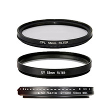 58mm UV CPL ND2 to ND400 Filter Lens For Sony For Nikon D3200 for Canon 400D 550D 500D 600D 1100D 450D 350D 70D 60D 700D 650D