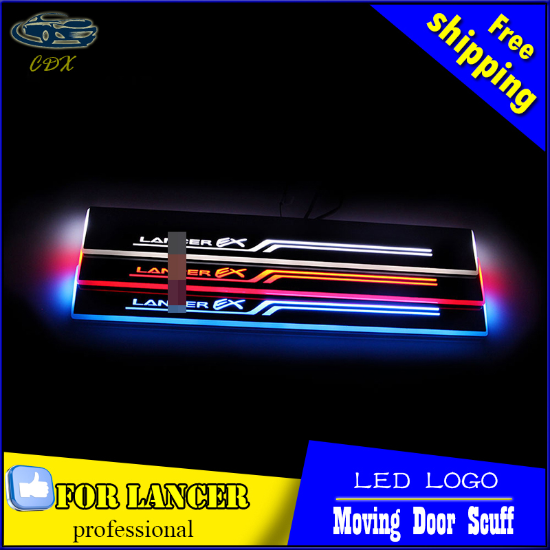 Car Styling Welcome pedal Door Sills Moving Scuff Plate Light Panel LED Light Dynamic Rubbing Strip For Mitsubishi Lancer EX<br><br>Aliexpress