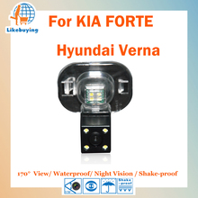 1/4 Color CCD HD Rear View Camera / Reverse Parking Camera For KIA FORTE / Hyundai Verna Night Vision / Waterproof / LED Lights(China)