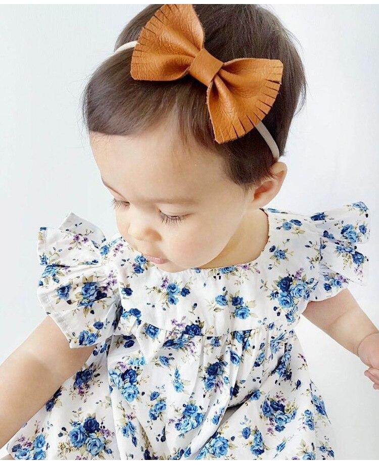 Mother nest 2018 Summer New Girls Flower Puff Sleeves Dress Cotton Children Kids Clothes Toddler Baby Birthday Kids Dresses (16)
