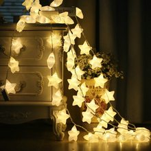 1.5 3m 20LED Crack Stars Fairy String Decorative Lights Battery Operated Wedding  Christmas Home Outdoor 7a1336f14ca9