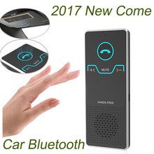 Wireless Handsfree Bluetooth Car Kit Elegant Hands Free Calling Transmitter Car Speakerphone With Car Charger White Black(China)