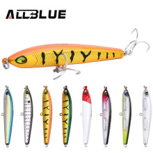 ALLBLUE 2017 Thrill Stick Fishing Lure 70mm/8.8g Sinking Pencil Longcast Shad Minnow 3D Eyes Artificial Bait Bass Pike Lures(China)