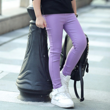 2pcs/lot Candy Color Pink Purple Green Blue White Black Rose Leggings Children Skinny Pants Baby Girl Clothes(Hong Kong)
